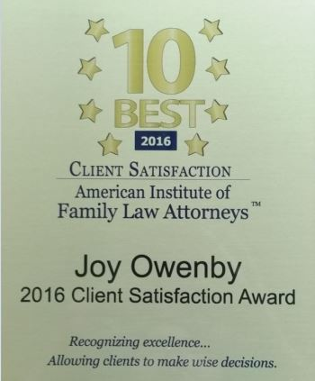 Owenby Client Satisfaction Award